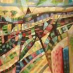 "44"" x 27"" oil on canvas"