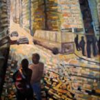 "oil on canvas 31"" x 50"""