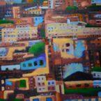 "oil on canvas 37"" x 48"""
